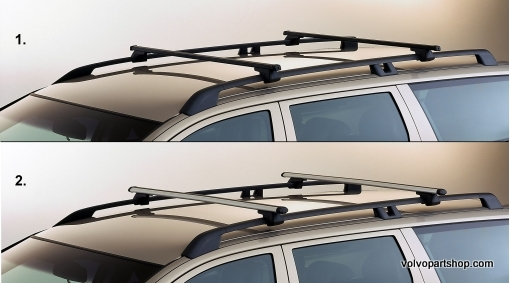 Load Carrier Roof Bars Square Profile For Rails V Xc70 08
