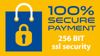 100% secure payment - 256bit ssl security with Worldpay