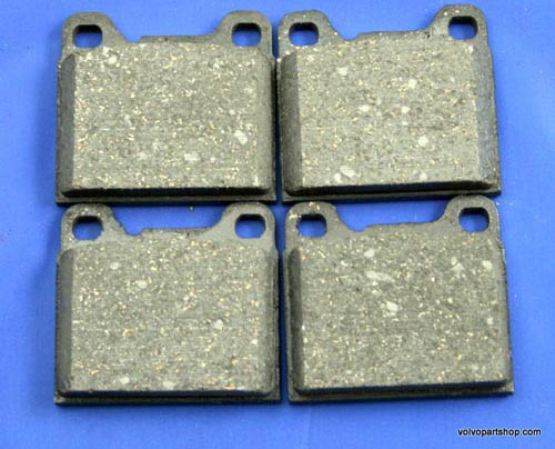 S60/V60 11- rear brake pads for cars with solid rear discs