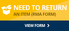 Request a RMA for returning an item